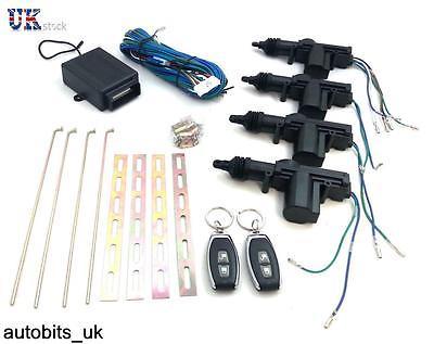 New Universal Car 2 Remote Central Kit Door Lock Vehicle Keyless