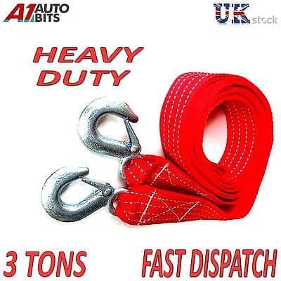 3000 Kg 3t 3 5m Tow Towing Pull Rope Strap Heavy Duty Road
