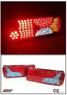 2X 24V LED TRAILER TRUCK BUS VAN STOP REAR TAIL INDICATOR LIGHTS REVERSE  LAMP