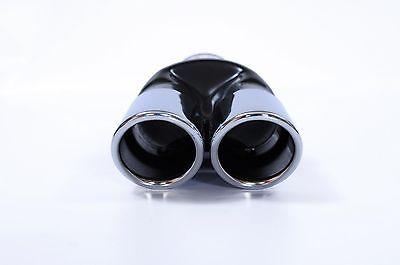2X SPORT DUAL TWIN EXHAUST MUFFLER PIPE TAIL TIP CHROME FOR BMW E32 E34 E36 E46