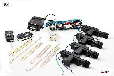 4 Door Car Central Lock Locking Keyless Entry Kit System With 2