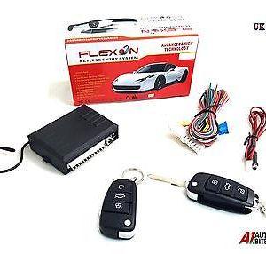 Car Alarm 2 Remote Central Kit Door Locking Key less Entry System DT Universal