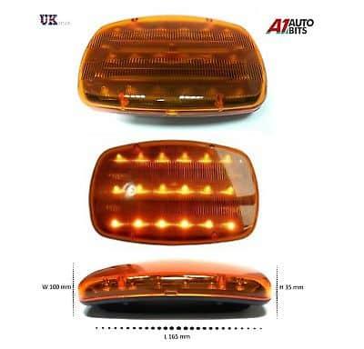 18 Led Car Strobe Light Amber Warning Flashing Emergency