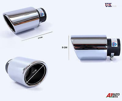 CHROME EXHAUST TAIL PIPE TIP UNIVERSAL 60MM