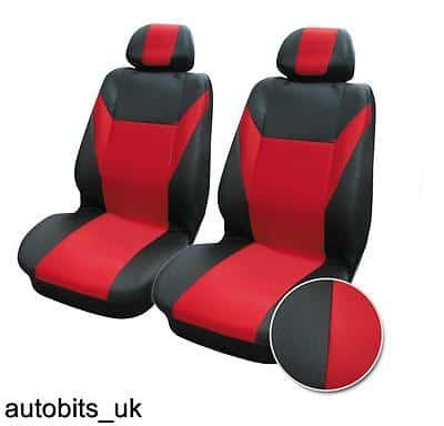 Peachy Red Black Fabric Front Seat Covers For Citroen C1 C2 C3 C4 C5 Xsara Picasso Theyellowbook Wood Chair Design Ideas Theyellowbookinfo