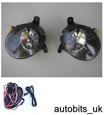 clear lens fog lights lamps l r for audi a4 b8 a4l 09 12. Black Bedroom Furniture Sets. Home Design Ideas