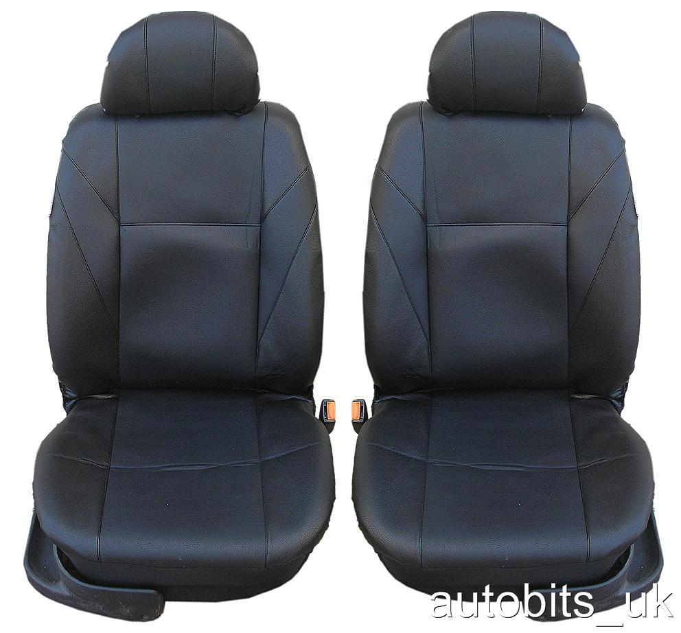 Heavy Duty Black Waterproof Car Seat Covers 2011-ON BMW 5 Series 2 x Fronts